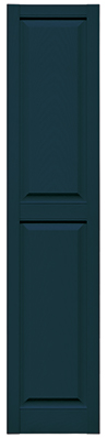 Mid America Raised Panel Shutter Midnight Blue